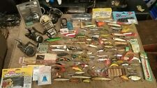 130+ Rare Vintage Shakespeare Clark Bomber Barracuda FISHING LURES Reels Lot *NR