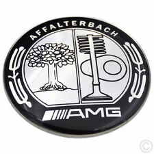 BLACK AMG STEERING WHEEL BADGE 2.0inch/52mm BLACK Affalterbach Emblem Sticker