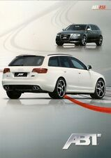 Audi RS6 Avant ABT Tuning Accessories 2009 Foldout Sales Brochure In English A6