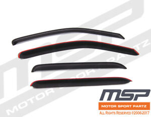 For Mazda Tribute 2001-2007 Window Visor Sun Guard Outside Mount Dark Grey 4pcs