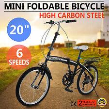 Microbike Bici Bicicletta Pieghevole 20 Pollici Adulto Unisex Città 6 Velocità