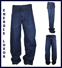 jeans energie da uomo largo larghi loose baggy skate hip hop blu w 30 31 32 33