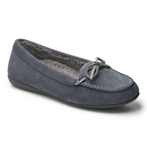 Vionic Ida slip on suede grey slipper arch support fur lining UK5 RRP £80