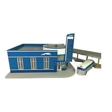 30-9040 MTH Greyhound Bus Station O Scale-w/Blinking Sign/Die Cast Bus/Bus Dock