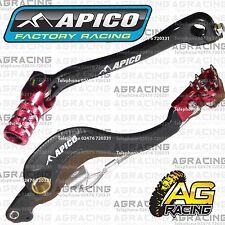 Apico Negro Rojo Freno Trasero & Gear Pedal Palanca Para Honda Crf 450r 2009 Motocross