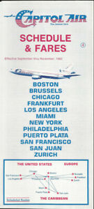 Capitol Air system timetable 9/82 [0123] Buy 4+ save 25%