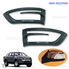 Grey Side Lamp Mirror Corner Cover For Ford Ranger T6 Wildtrak Mk2 Px 2015 2017
