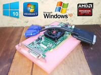 Windows 10 Dell Optiplex 760 780 790 960 980 990 SFF Dual Monitor VGA Video Card
