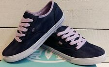 Ladies Animal Marcy Blue Canvas Lace Up Shoes