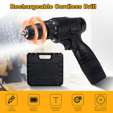 12V Cordless Drill Electric Screwdriver 3/8'' Mini Wireless Power Driver+Battery