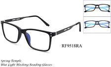 Reading Glasses Blue Light Blocking Filter Anti Fatigue Spring Hinged UV 100%