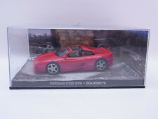Lot 38634 ferrari f355 GTS 1:43 James Bond GoldenEye maqueta de coche en vitrina