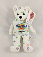 "Hard Rock Cafe Bear Plush Peace Chicago 8"" Herrington Teddy Bears Stuffed Animal"