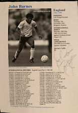 Signed John Barnes Liverpool FC Football Autograph England Watford