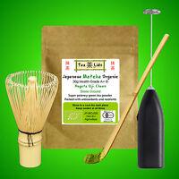 30g JAPANESE MATCHA Green Tea Powder, ORGANIC, Uji, Kyoto, Whisk, Scoop, Spoon