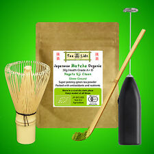 30g JAPANESE MATCHA Green Tea Powder, ORGANIC, Uji, Kyoto, Whisk, Scoop, Spoon