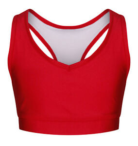Childrens Red & Blue Crop Tops for dance