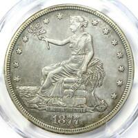 1877-S Trade Silver Dollar T$1 - Certified PCGS XF Details (EF) - Rare Coin!