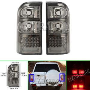 Left Right Side Black LED Rear Tail Light for Nissan Patrol GU Y61 12/1997-2004
