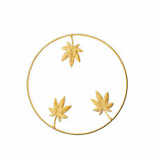 Gold Home Office Metal Leaf Wrought Iron Bedroom Hanging Parts Wall Decoration