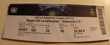 Ticket for collectors CL Bayer Leverkusen - Valencia CF 2011 Germany Spain