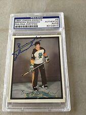 Brendan Shanahan Signed 1985-86 Pre Rookie Card PSA Slabbed #83123417