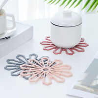 HN- FT- Non-slip Heat Insulation Coffee Tea Cup Coaster Pot Mat Dinning Table De