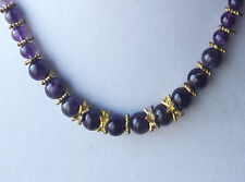 Stauer amethyst bead Tyrian Purple necklace