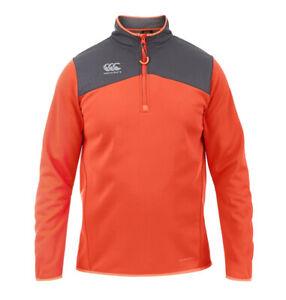 Canterbury Thermoreg Water Resistant Mens 1/4 Zip Jumper Orange