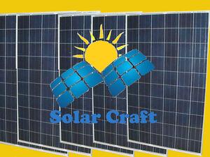 Panneau solaire Énergie renouvelable 5x260 Wat 24V monocristallin photovoltaïque
