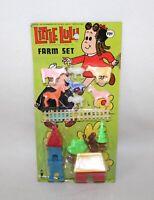 "Whimsical Vintage 1974 ""LITTLE LULU 15 PIECE FARM SET"" SIOP"