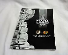 2013 Stanley Cup Finals Game Program Boston Bruins Chicago Blackhawks FREESHIP