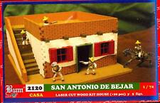 BUM Models 1/72 THE ALAMO SAN ANTONIO DE BEJAR HOUSE #1 Wood House & Figure Set