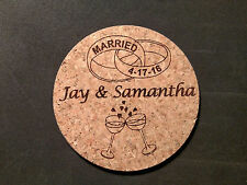 Personalized Wedding Coasters, Set of 4 Great Gift