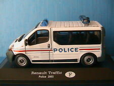 RENAULT TRAFIC 3 DCI 100 VITRE POLICE 2003 1/43 NATIONALE FRANCAISE PHASE 3