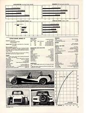1971 LOTUS 7 SERIES IV  ~  GREAT 5-PAGE ORIGINAL ROAD TEST / ARTICLE / AD
