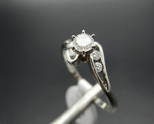 Vintage 14k White Gold .50ct Right Hand Diamond Ring