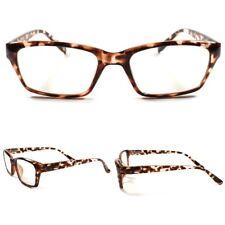 Mens Womens Vintage Retro Smart Nerd Cool Clear Lens Glasses Tortoise Frame