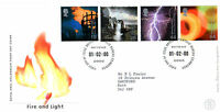 1 FEBRUARY 2000 FIRE AND LIGHT ROYAL MAIL FIRST DAY COVER BUREAU SH