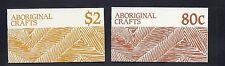 Australia 1987 Aboriginal Crafts booklets (Sc 1049a 1051a) Vf Mnh