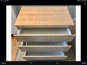IKEA Kullen Chest of 3 Drawers White Bedroom Furniture 70x72cm Offers Welcome!