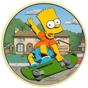 Tuvalu 2020 1$ - Bart Simpson - Home, Sweet Home - 1 Oz Silver Coin