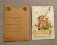 Oct.1946 Boy Scouts Of America, Membership Card,  Military Service