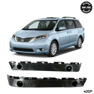 Fits 2011-2019 for Toyota Sienna Front Bumper Brackets Support Retainer Pair Set