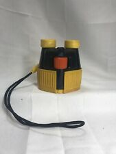 Vintage Fisher Price Binoculars With Strap 1986 Blue And Yellow Adjustable Lens