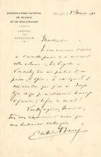 Gabriel FAURE   Lettre autographe signée sur un poème opéra.