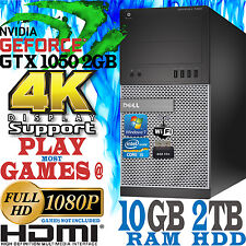 Ultra rapide dell gaming computer quad core i5 10GB 2TB nvidia geforce gtx 1050 4K