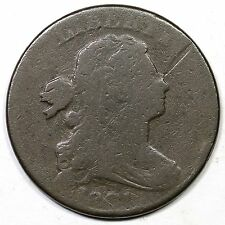 1801 S-220 R-3 M-LDS Draped Bust Large Cent Coin 1c Ex; Holmes