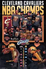 Cleveland Cavaliers 2016 NBA Finals Team Celebration Poster - 24x36 Irving James