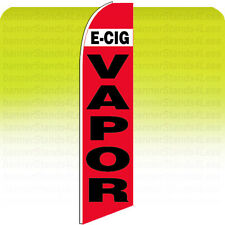 E-Cig Vapor Feather Swooper 11.5' Flag Flutter Tall Banner Sign - rb